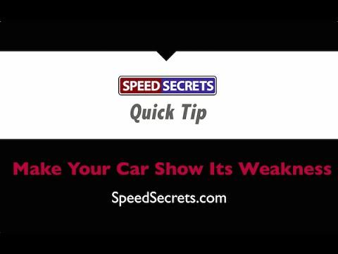 Q: How do I know if I'm the one causing my car to understeer, or whether I should adjust my car?