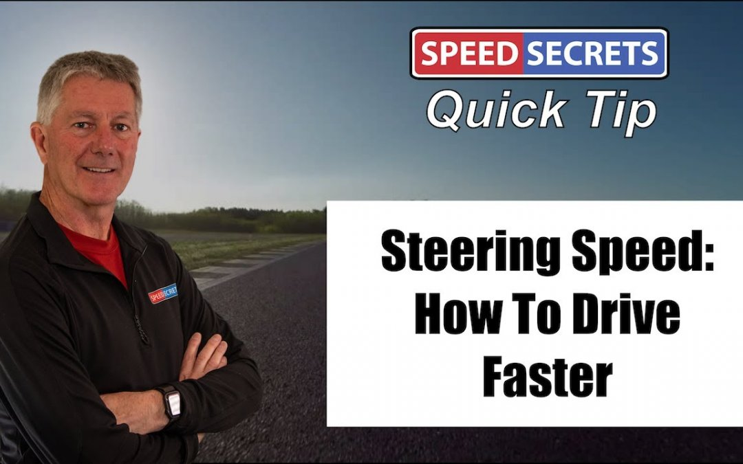 Q: Does turning the steering wheel more in the middle of a corner make me faster?