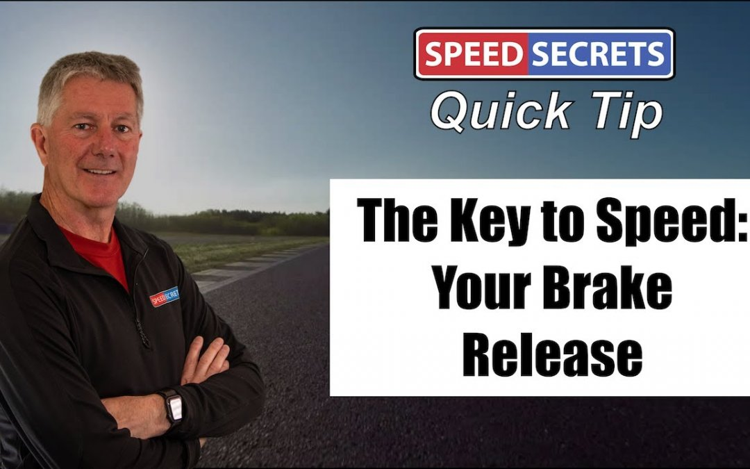 Q: Can you explain how the timing and rate of brake release helps me drive faster?
